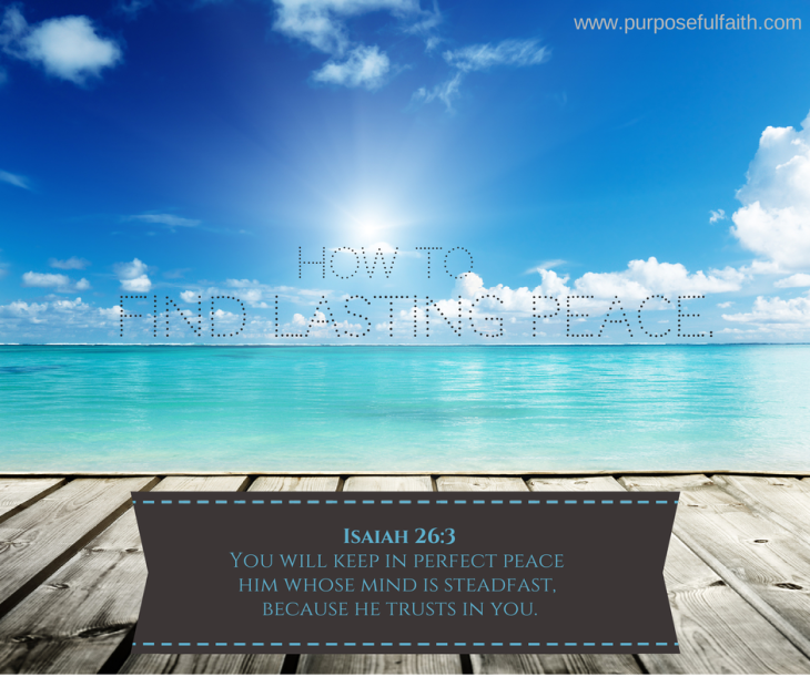 Find lasting Peace