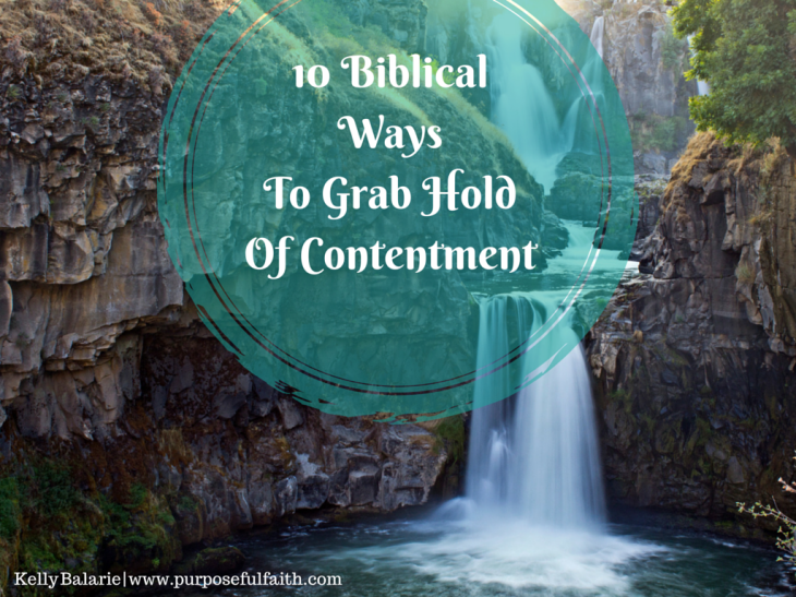 Grab hold of contentment