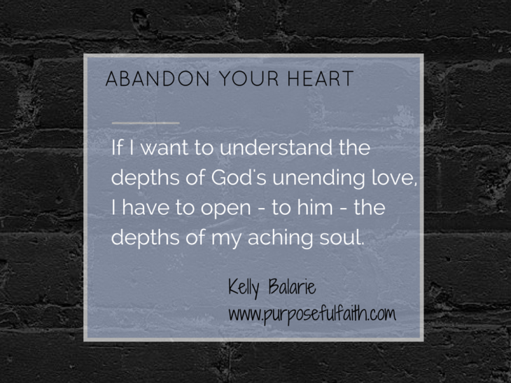 Abandon your heart to Jesus