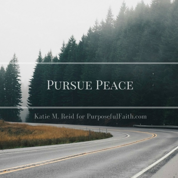 Pursue peace image by Katie M. Reid for purposefulfaith.com