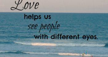 Love see people
