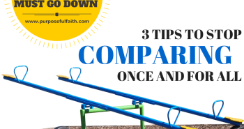 How to Stop Comparing Once and For all