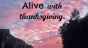 thanksgiving thanks alive