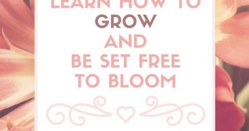 Learn how to grow and be set free to bloom by Katie M. Reid for Kelly Balarie's Purposeful Faith